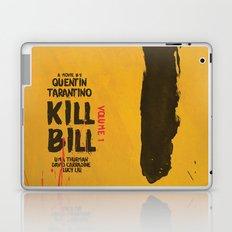 Kill Bill, Tarantino Movie Poster, Alternative, Minimal, Fine Art, Uma Thurman Laptop & iPad Skin