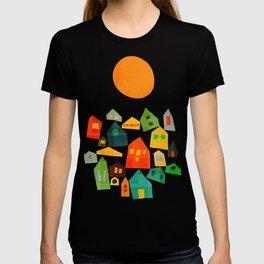 Looking at the same sun T-shirt