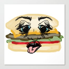 Faceburger Canvas Print