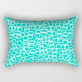 Black Tie Collection Links Teal Colorway Rectangular Pillow