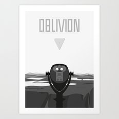 Oblivion (2013) - minimal poster Art Print