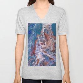 Turquoise Splash Unisex V-Neck