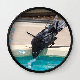 Thirsty raven Wall Clock