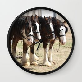 Clydesdales 4 Wall Clock