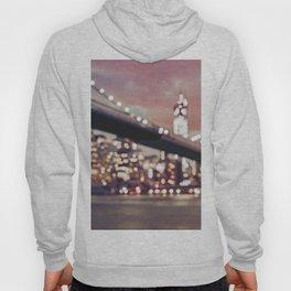 New York City Brooklyn Bridge Lights Hoody