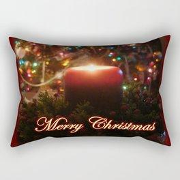 Candelit Christmas Rectangular Pillow