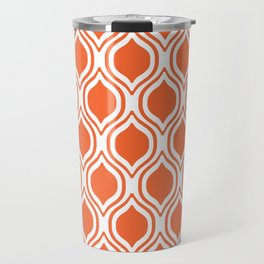 University sports clemson purple and white ogee pattern minimal college football fan Travel Mug