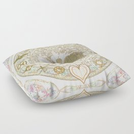 Let Love Be the Foundation Floor Pillow