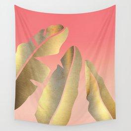Shining Banana Leaves Wall Tapestry