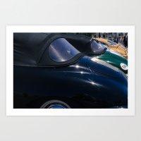 porsche Art Prints featuring Porsche by Sébastien BOUVIER