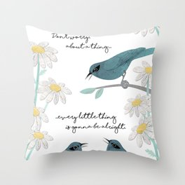 Three Little Birds (Parts 1 and 2) Throw Pillow