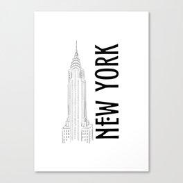 New York Chrysler Canvas Print