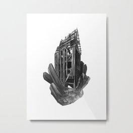 Obsidian House Metal Print