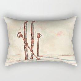 Skiing Rectangular Pillow