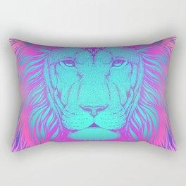 Majestic Soul (Neon Lion) Rectangular Pillow