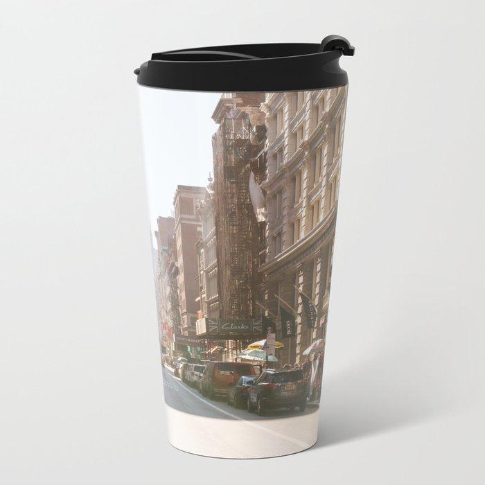 New York City Streets Metal Travel Mug
