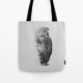 The Owl (black & white version) Tote Bag