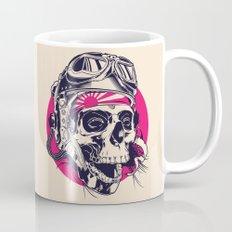 Skull with pilot helmet illustration Mug