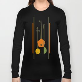 Mid-Century Modern Art Musical Strings Long Sleeve T-shirt