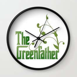 The Greenfather An Earthday Parody Wall Clock