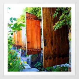 Spanish Courtyards Art Print