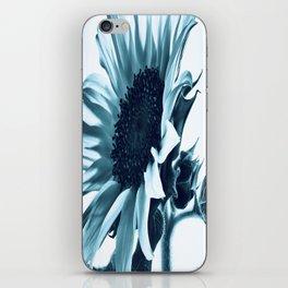 Pastel Blue Sunflower iPhone Skin