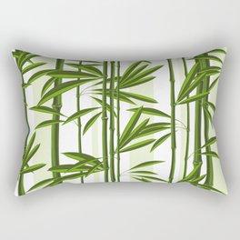 Green bamboo tree shoots pattern Rectangular Pillow