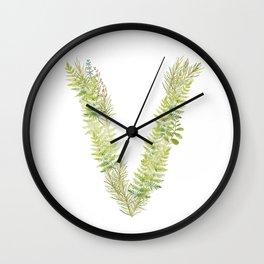 Initial V Wall Clock