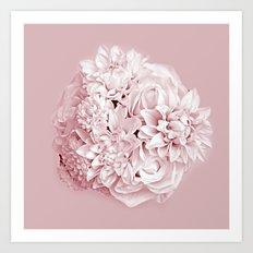 Blush Pink flowers Art Print