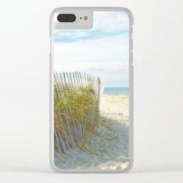 Sandy Beach, Ocean, and Dunes Clear iPhone Case