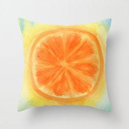 Juicy Orange Throw Pillow