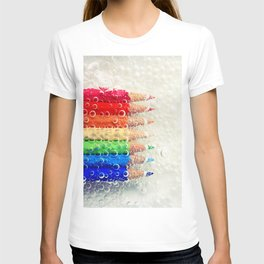 Bubble Rainbow Pencils T-shirt