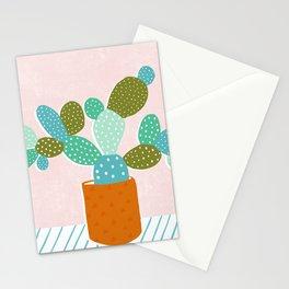 modern cacti Stationery Cards