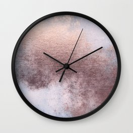 Princess Retro Rose Gold Blush Wall Clock