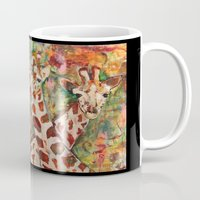 giraffes Mugs featuring Giraffes by Peggy Krantz Art