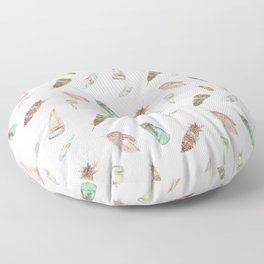 Feather collection in nature colors Floor Pillow