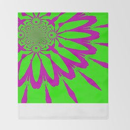 The Modern Flower Green & Purple Throw Blanket
