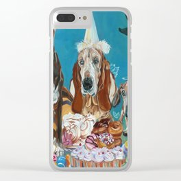 The Last Dessert Dog Portrait Clear iPhone Case