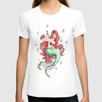 mucha T-shirts featuring Mucha-esque Mermaid by Beth Aucoin