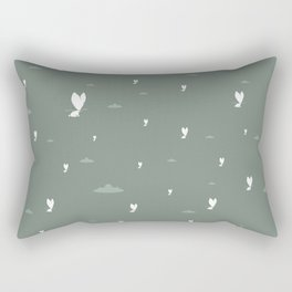 The Foggy Bunny Rectangular Pillow