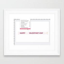 I love you Hidden characters Framed Art Print