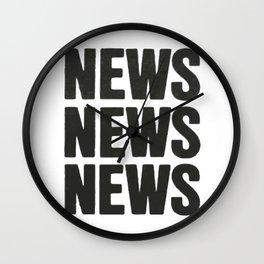 News News News Wall Clock