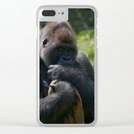 Silverback Gorilla And His Blanket Clear iPhone Case