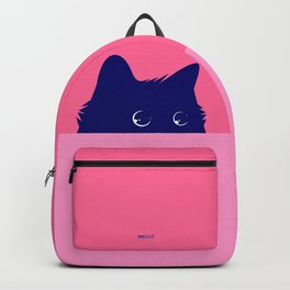 Cat on Deep Pink Backpack