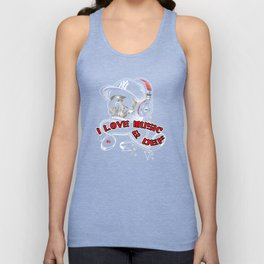 I LOVE MUSIC TO DEATH Unisex Tank Top