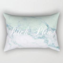 Bitch Please Green Marble Rectangular Pillow