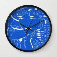 fern Wall Clocks featuring FERN by Andrea Jean Clausen - andreajeanco