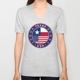Texas, USA States, Texas t-shirt, Texas sticker, circle Unisex V-Neck