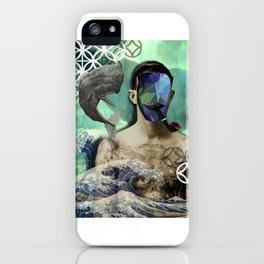 Sinner man with tattoo iPhone Case