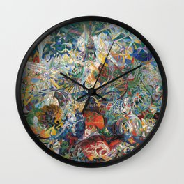 Battle of Lights, Coney Island, Mardi Gras by Joseph Stella Wall Clock